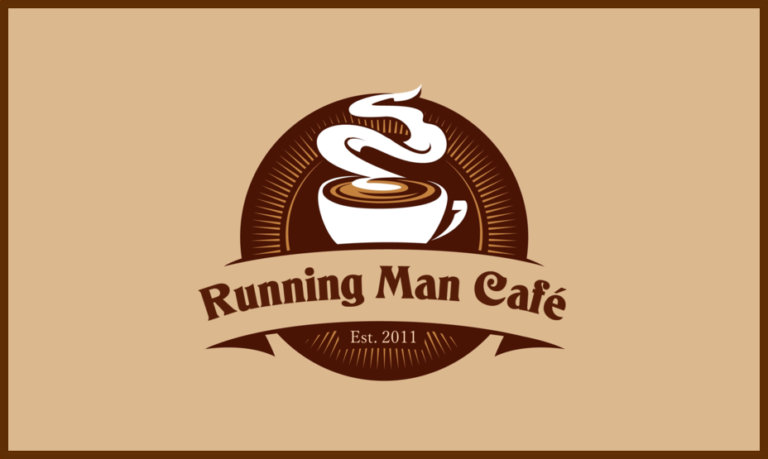 running man cafe logo