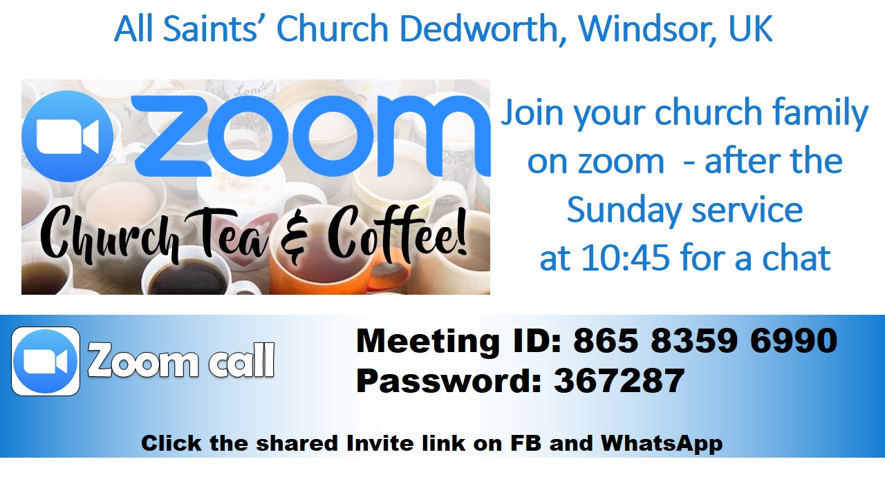 Join us on Zoom after todays service