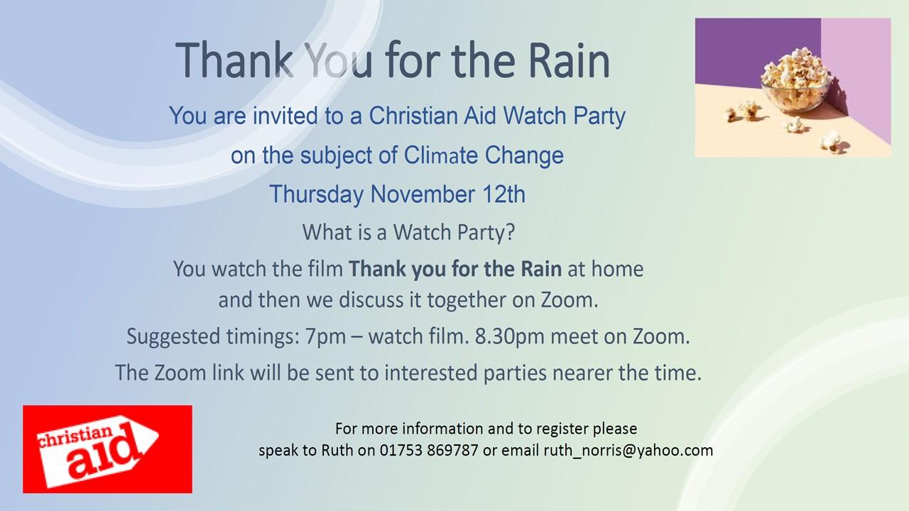 Christian Aid Movie - Thank you for the rain