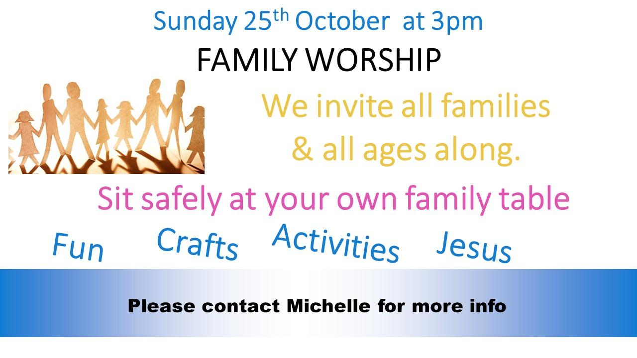 Family Worship – 3pm