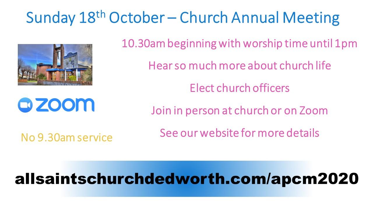 2020 Annual Parish Church Meeting
