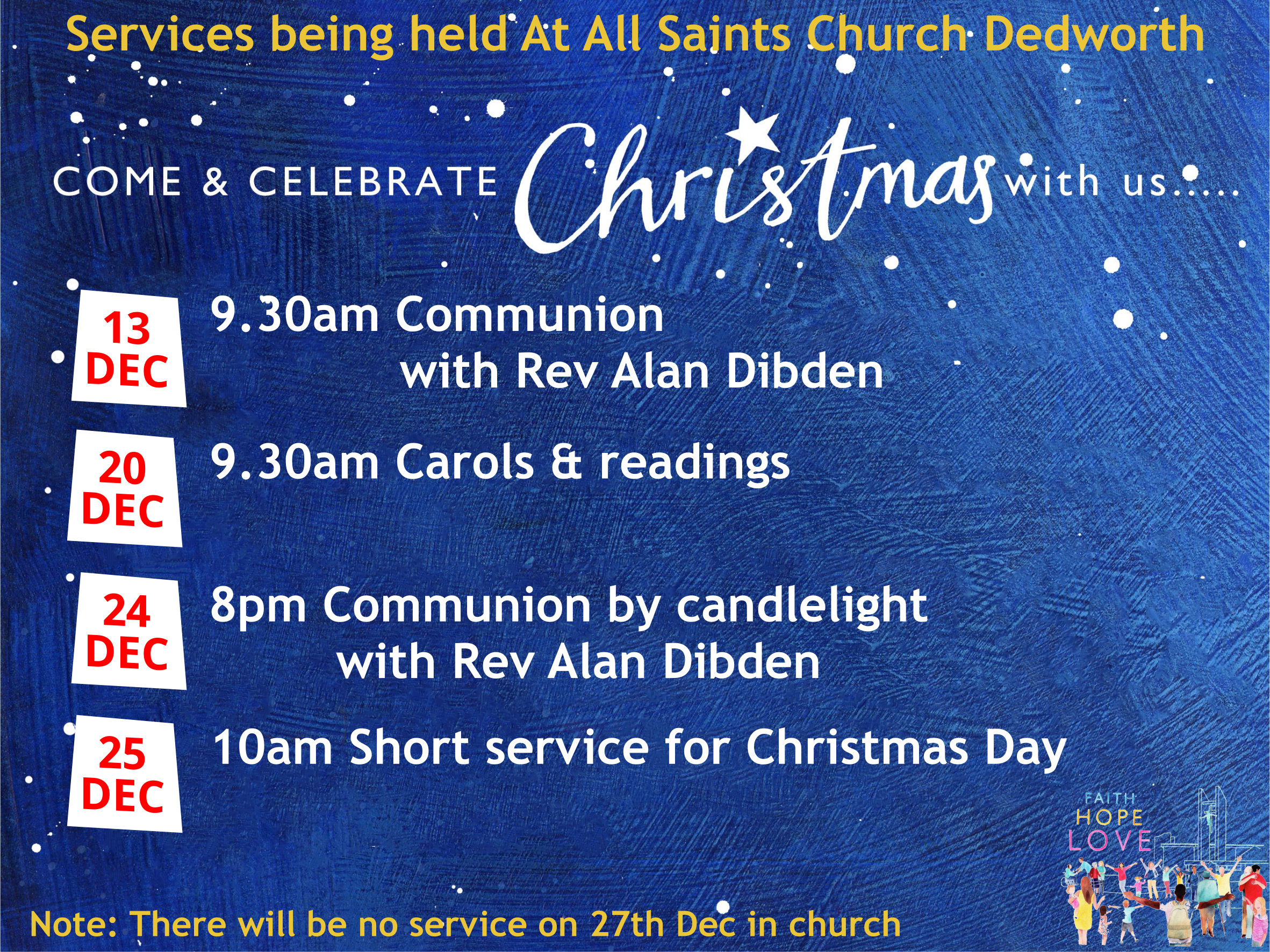 Christmas Services at All Saints Church - NOW CANCELLED