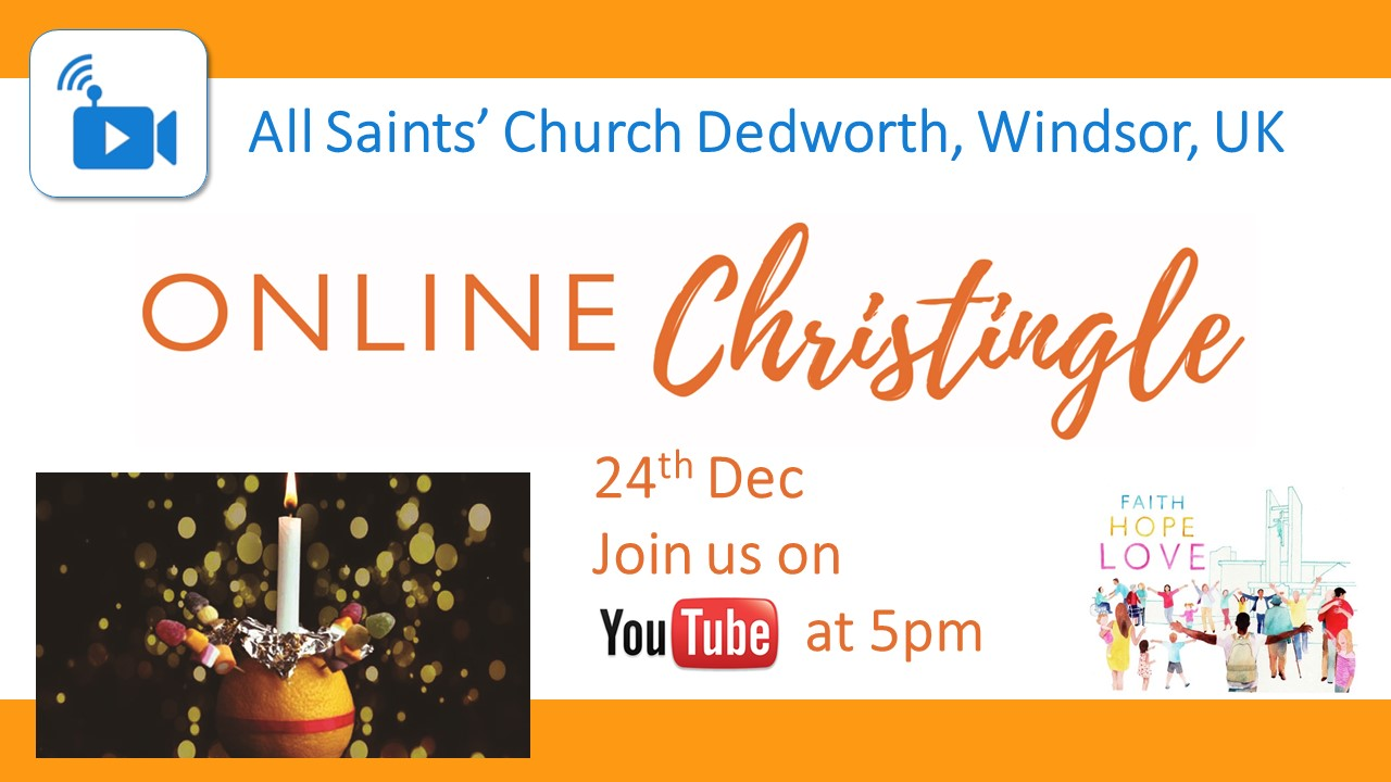 Join us Live on YouTube at 5pm on Christmas Eve