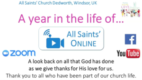 A year in the life of All Saints Online...